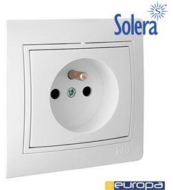 Solera base bipolar 16a 250v con toma francesa s.europa 8423220081604 - 42940