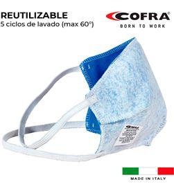 S.of. mascarilla semifacial reutilizable 100% poliester Cofra healt mask 8023796563919 - 80092