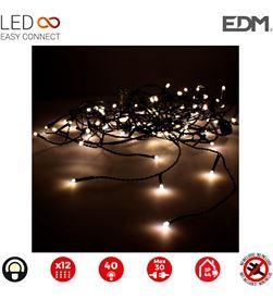 Edm cortina icicle easy-connect 2x0,5mts 12 tiras blanco calido 30v (interior- 8425998712667 - 71266