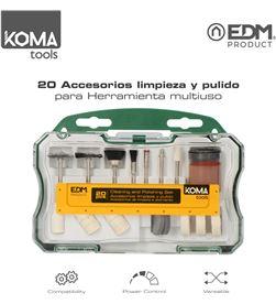Koma set 20 accesorios tools para mini herramienta multiusos rotativa ref: 8425998087352 - 08735