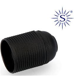 Solera portalamparas roscado e-27 negro homologado 8423220000599 - 44009