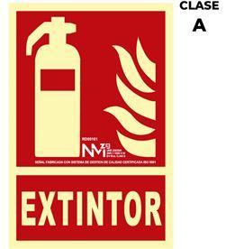 Normaluz señal de extinción ''extintor'' clase a (pcv 1mm) 21x30cm 8422838006542 - 08942