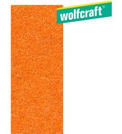 Wolfcraft pack 8 hojas de lija de corindón grano 120 sin perforación 93x230mm wolfcra 4006885205406 - 82555