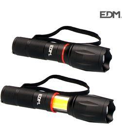 Edm linterna led xl extensible led frontal 200 lumens y lateral 120 lumens 8425998363760 - 36376