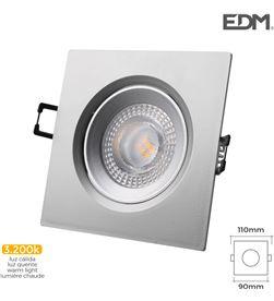 Edm downlight led empotrable 5w 380 lumen 3.200k cuadrado marco cromo 8425998316582 - 31658