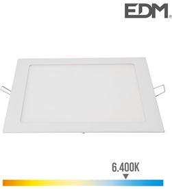 Edm downlight led cuadrado 20w 1500lm 22x22cm marco blanco 6.400k 8425998315820 - 31582