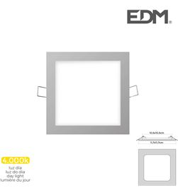 Edm mini downlight led 6w 320 lumen cuadrado 12cm 4.000k marco cromo 8425998316087 - 31608