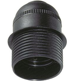 Solera portalamparas semiroscado e-27 negro 8423220000605 - 44069
