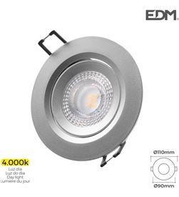 Edm downlight led empotrar 5w 380 lumen 4.000k redondo marco cromo 8425998316322 - 31632