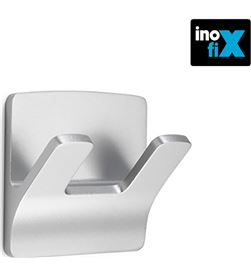 Inofix colgador resistente al agua mod. rama doble cromo (blister) 8414419219274 - 66535