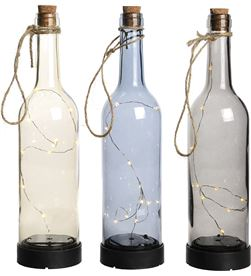Solar botella de cristal decorativa con micro led 3 modelos surtidos 8719152852147 - 71366