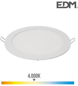 Edm downlight led empotrable 20w luz dia 4.000k 1500 lumens blanco 8425998315721 - 31572