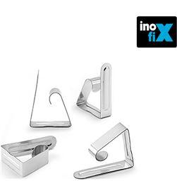 Inofix pinza sujeta mantel metalica (blister 4 unid)  8414419119413 - 66540