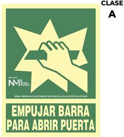 Normaluz señal de evacuación ''empujar barra para abrir puerta'' clase a (pvc 1mm) 22 8422838006085 - 08951