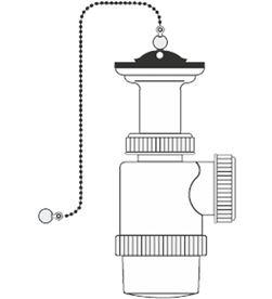 Mirtak sifon de botella extensible - v70 - 1'' 1/2'' con cadena y tapon 8425998015911 - 01591