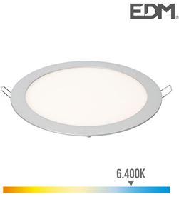 Downlight led empotrable 20w luz fria 6.400k 1500 lumens cromo mate Edm 8425998315660 - 31566