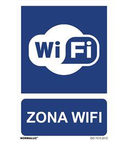 Normaluz señal uso obligatorio ''zona wifi'' (pvc 0.7mm) 30x40cm 8426583905013 - 08977