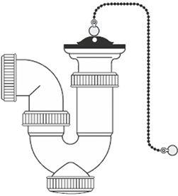 Mirtak sifon curvo extensible - 1'' 1/2'' - con cadena y tapon 8425998015935 - 01593