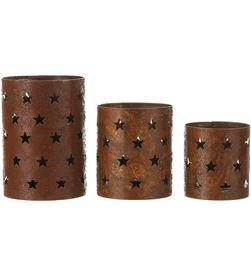House set 3 portavelas metalicos color cobre 16x12cm 8718861385236 - 83142