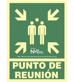 Normaluz señal de evacuación ''punto de reunion'' clase b (pvc 0.7mm) 22.4x30cm 8422838036563 - 08956
