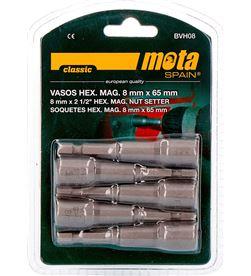 Mota juego puntas vaso hexagonal magnetica 8x65mm bvh08 8435223403789 - 39232