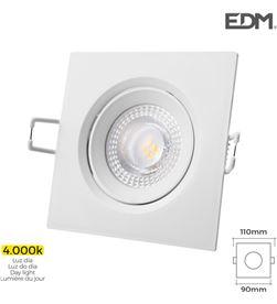 Downlight led empotrar 5w 380 lumen 4.000k cuadrado marco blanco Edm 8425998316339 - 31633