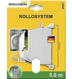 Schellenberg recogedor exterior abatible 28x159x120mm blanco giratorio 180º 4003971505075 - 87050