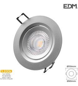 Edm downlight led empotrable 5w 380 lumen 3.200k redondo marco cromo 8425998316544 - 31654