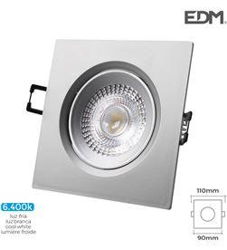 Edm downlight led empotrable 5w 380 lumen 6.400k cuadrado marco cromo 8425998316575 - 31657