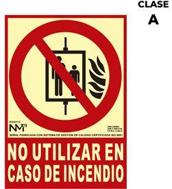 Normaluz señal de extinción ''no utilizar en caso de incendio'' clase a (pvc 1mm) 21x 8422838006559 - 08948