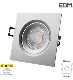Edm downlight led empotrable 5w 380 lumen 4.000k cuadrado marco cromo 8425998316346 - 31634