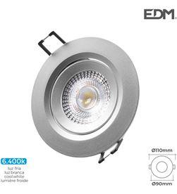 Edm downlight led empotrable 5w 380 lumen 6.400k redondo marco cromo 8425998316537 - 31653