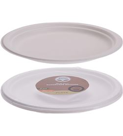 Eco conjunto 8 platos grandes biodegradables 8719987248344 - 76766