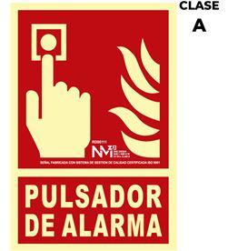 Normaluz señal de extinción ''pulsador de alarma'' clase a (pvc 1mm) 21x30cm 8422838006573 - 08944