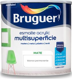 Bruguer esmalte acrylic multisuperficie mate blanco permanente 0,250l 8429656233495 - 25014