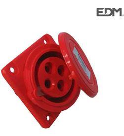 Edm base empotrar cetac 3 p+t roja 16 a 8425998460063 - 46006