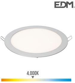 Edm downlight led empotrable 20w luz dia 4.000k 1500 lumens cromo mate 8425998315738 - 31573