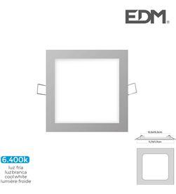 Edm mini downlight led 6w 320 lumen cuadrado 12cm 6.400k marco cromo 8425998316070 - 31607
