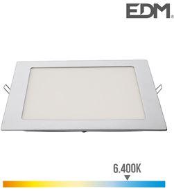 Edm downlight led cuadrado 20w 1500lm 22x22cm marco cromo 6.400k 8425998315837 - 31583