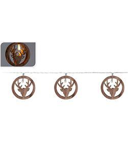 Decorative guirnalda figuras renos madera 10 leds 8719202797503 - 71396