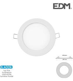 Edm mini downlight led 6w 320 lumens redondo 12cm 6.400k marco blanco 8425998316018 - 31601