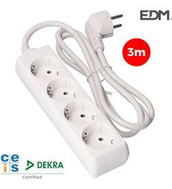 Edm base multiple 4 tomas t/tl 3m 3x1,5mm 8425998410341 - 41034