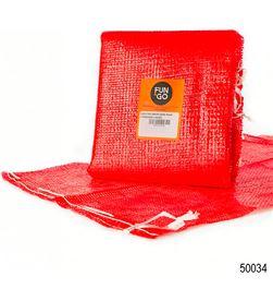 Fun pack 10ud saco polymesh rojo con pasador 55x83cm 8435310192794 - 47239