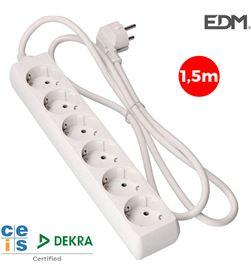 Edm base multiple 6 tomas schuko 1,5m 3x1,5mm 8425998410068 - 41006