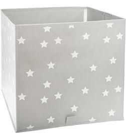 Atmosphera cesta de ordenación infantil color gris con estrellas 3560238325506 - 83478