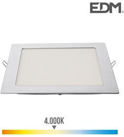 Edm downlight led cuadrado 20w 1500lm 22x22cm marco cromo 4.000k 8425998315851 - 31585