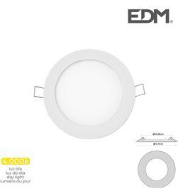 Mini downlight led Edm 6w 320 lumen redondo 12cm 4.000k marco blanco 8425998316025 - 31602