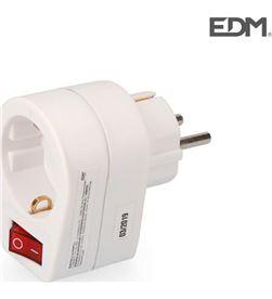Clavija adaptadora con interruptor retractilada(10128052) Edm 8425998400489 - R40048