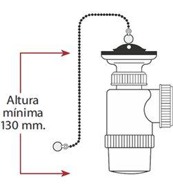 Mirtak 01598 #19 mini sifon botella - extensible - v70 - con cadena y tapon 8425998015980 - 01598 #19