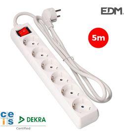 Edm base multiple 6 tomas schuko com interruptor 5m 3x1,5mm 8425998410662 - 41066 #19